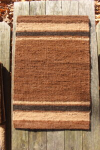 rug brown fawn black