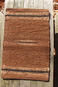 rug brown black white