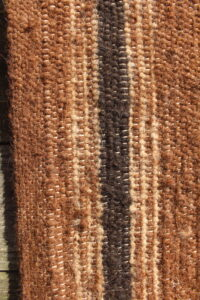 rug brown black white closeup
