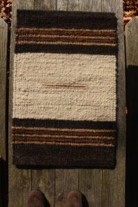 rug white black fawn brown