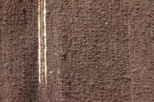 rug 3x5 mocha white brown closeup