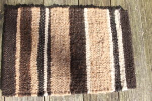 Placemat brown black fawn white
