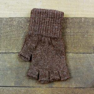 fingerless gloves brown