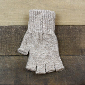 fingerless gloves fawn