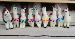 herd of knitted alpacas