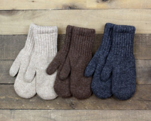 natural lined mittens