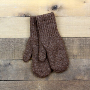lined mittens brown