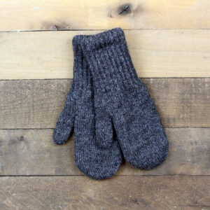 lined mittens gray