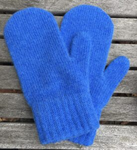 mittens blue